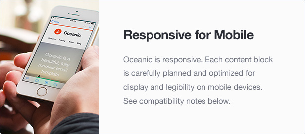 Oceanic - Modular Responsive Email Template